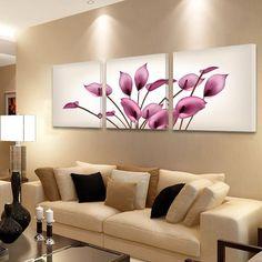 Frete grátis 3 PCS impressos em lona do lírio de calla Nobre flor de moda Moderna pintura decorativa pintura da lona SEM moldura