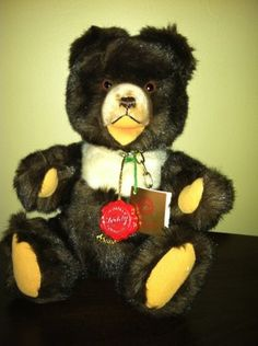 "One of my favorite Hermann Bear is Zotty...I've loved them since I was a little girl. Hermann Teddy Original 12"" Zotty Jointed Teddy WITH CHAIN // Photo via Ebay...."