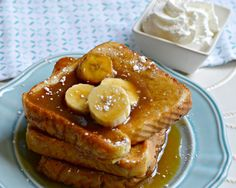 Bananas Foster French Toast - ready to eat