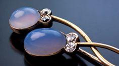 Art Nouveau Sapphirine Diamond Gold Brooch Pin by RomanovRussiacom on Etsy https://www.etsy.com/listing/231946303/art-nouveau-sapphirine-diamond-gold