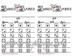 Feel Free To Print And Distribute Copies Of Our Free Bunco Score