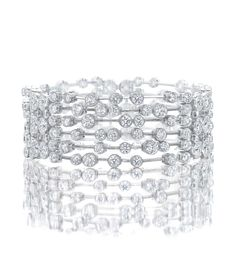 A vibrant, glistening bracelet from Boodles' Raindance Anniversary collection. Set with 144 round-brilliant cut diamonds In platinum. Diamond Bracelets, Diamond Jewelry, Gold Jewelry, Fine Jewelry, Jewellery, Bangle Bracelets, Jewelry Box, Boodles, Gold Bracelet For Women