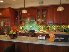 mexican tile design kitchen | Mexican Tile Backsplash Design Ideas, Pictures, Remodel, and Decor