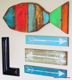 Here Fishy, Fishy, Fishy--Reclaimed Wood Fish Art http://bec4-beyondthepicketfence.blogspot.com/2014/06/here-fishy-fishy-fishy.html