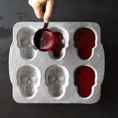 Nordic Ware Halloween Mini Skull Cakelet Pan #williamssonoma red velvet skulls....awesome