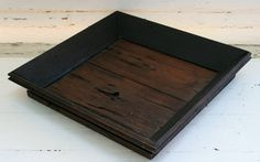 Large Wood Serving Tray, Rustic