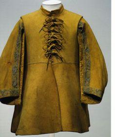 Ties on a 17th century buffcoat.
