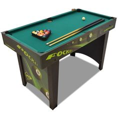 Pool Table American Pocket Indoor Green Table Ball Game