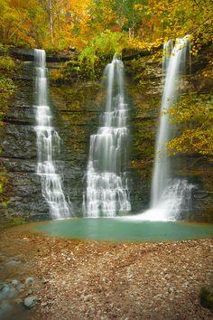 'Triplets' in the Buffalo National River area in Arkansas - photo by Ryan Heffron
