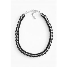 Classic cord and chain necklace at giftinggrace.com.
