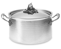 Ruffoni Hammered Stainless-Steel Stock Pot $500