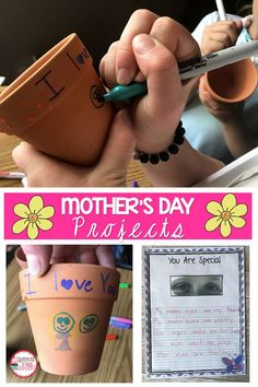 Mother's Day Activities - Spring Crafts For Kids Father's Day Activities, Spring Activities, Writing Activities, Holiday Activities, Educational Activities, Classroom Activities, Mom Template, 2nd Grade Crafts, Morhers Day