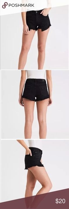 American Eagle Shorts - black High - Rise Festival Shorts, Black, Size 0. American Eagle Outfitters Shorts