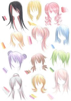 hairstyle guide by Nina-D-Lux.deviantart.com on @deviantART