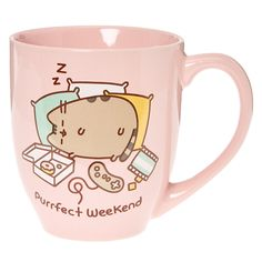 Pink Pusheen Purrfect Weekend Mug Gato Pusheen, Pusheen Love, Pusheen Stuff, Kawaii Room, Cute Cups, Cute Cartoon, Cat Lovers, Cool Things To Buy, Tea Pots