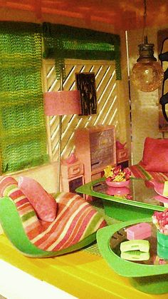 Living Room of the Barbie A-Frame Dreamhouse by Mattel, 1978