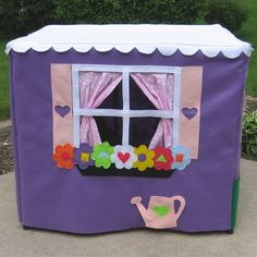Card Table Playhouse Toy Handmade Lavender Lane von ThePlayhouseKid