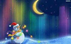 Christmas Snowman Desktop Wallpaper - CHGLand.info