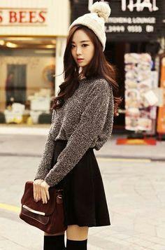 Moda coreana: vestuario ulzzang *o* . korean fashion styles in 2019 корейск Korean Fashion Trends, Korea Fashion, Kpop Fashion, Cute Fashion, Asian Fashion, Girl Fashion, Fashion Looks, Fashion Outfits, Womens Fashion
