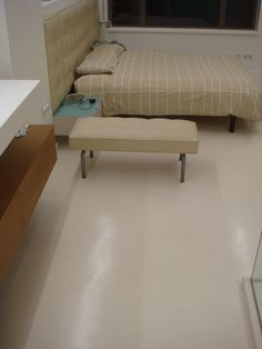 Microcement floor Dining Bench, Flooring, Furniture, Home Decor, Decoration Home, Table Bench, Room Decor, Wood Flooring, Home Furnishings