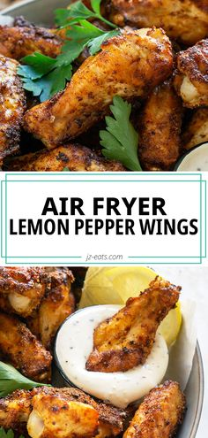 These Lemon Pepper Wings are air fried for crispy perfection. This easy recipe makes the perfect game day appetizer or dinner! #lemonpepperwings #airfryerwings #wingsrecipes #gamedayrecipes Lemon Pepper Wings, Perfect Game, Instant Pot, Air Fryer Wings, Paleo Recipes, Cooking Recipes, Fry Baby, Air Frier Recipes, Easy Meals