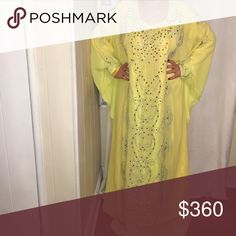 Arabic yellow dress one size New, model is not wearing heels Dresses