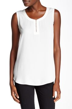 Pleione - Rope Front Detail Tank at Nordstrom Rack.