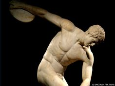 The Discus Thrower by Myron, also known as Discobolus of Myron from the British Museum of London (Amairani Aguilar)