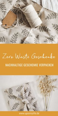 Geschenke nachhaltig verpacken Best Birthday Gifts, Christmas Wrapping, Zero Waste, About Me Blog, Wraps, Gift Wrapping, Holiday Decor, Advent, Couture
