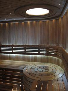 Сауна ROUND CHISELED | Компания Жар да Пар (Харьков) - 1 Sauna Design, Outdoor Sauna, Saunas, Bathrooms, Buildings, Spa, Homes, Ceiling Lights, Interiors