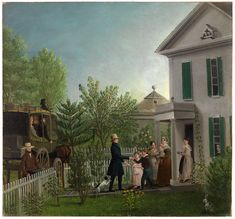 Professor Edward Hitchcock Returning from a Journey  ca. 1838  Painting  oil on canvas mounted on board