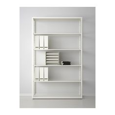 FJÄLKINGE Shelf unit  - IKEA- This one, while more expensive than VITTSJO, has deeper shelves and is able to hold more weight per shelf.