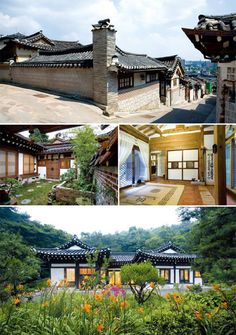 1-2. Bukchon (North Village) in Seoul's Gahoe-dong district. 3-4. The hanok-style home of Im Jin-su, in Anseong, Gyeonggi-do province. (Photos courtesy of the Cultural Heritage Administration)