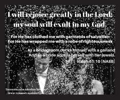 Isaiah 61 10, Facebook Sign Up, Bible Verses, Lord, Thoughts, Scripture Verses, Bible Scriptures, Tanks, Scriptures