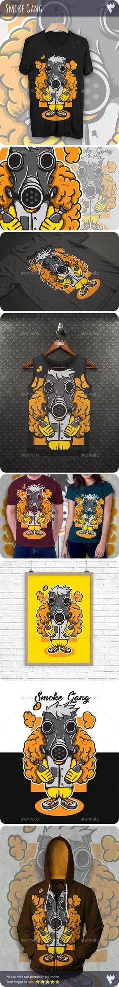 Vape Smoke Gang #T-Shirt Design - Funny Designs Download here:   https://graphicriver.net/item/vape-smoke-gang-tshirt-design/20422325?ref=alena994