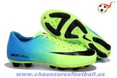 Nike Mercurial Glide III HG Vert Bleu FT626