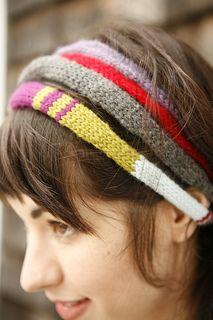 striped i-cord headband