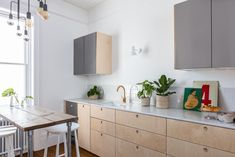Custom Fronts/plywood kitchen/birch ply/industrial/kitchen design/London kitchen/Ikea hack/Ikea kitchen