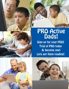 Become a PRO~Active Dad today!  Sign up and help your struggling reader become a more powerful reader! It's so easy to do!  If you have a computer, laptop or tablet with internet access - you can be a PRO Active Dad!  Start today!  Go to www.nrsi.com!  For a few dollars your struggling reader can become a more powerful reader! What are you waiting for! Make this a Father's Day to share with your child in the best way - get them reading! :)  Learn more at www.nrsi.com.