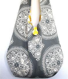 Artículos similares a Customize REVERSIBLE Boho Bag Adjustable Messenger Sling Bag or Shoulder Bag en Etsy