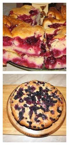 МЕГА-ВКУСНЫЙ ПИРОГ С ЗАМОРОЖЕННЫМИ ЯГОДАМИ НА РАЗ-ДВА-ТРИ! - tolkovkysno.ru Sweet Bakery, Bon Appetit, French Toast, Deserts, Food And Drink, Bakeries, Cookies, Breakfast, Cake