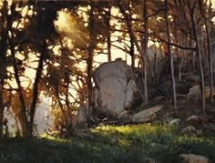 Brian Blood - Off the Trail in Pt Lobos- Oil - Painting entry - November 2013 | BoldBrush Painting Competition