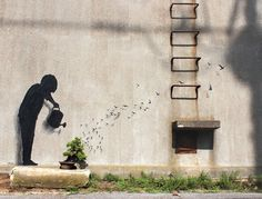 Gulliver -Tokyo - Street Art by Pejac  <3 <3