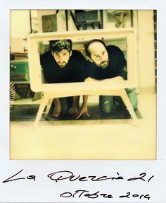 Luca e Nicola, titolari de La Quercia 21. Più che una falegnameria, un laboratorio di design artigianale.  Luca and Nicola, owner of La Quercia 21. They believe that la Quercia 21 is more an handmade design laboratory than a carpentry.