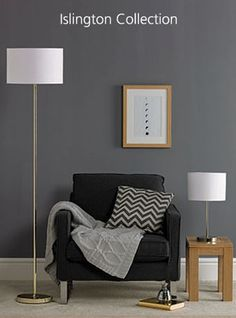 Beautifully simplistic Islington floor and table lamp collection. Available in chrome, copper and gold. Floor Lamp, Accent Chairs, Chrome, Table Lamp, Bulb, Lighting, Furniture, Copper, Collections