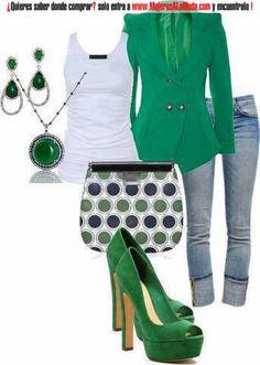 Combinaciones con verde y blanco