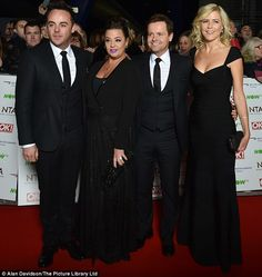 Ant and Dec hit the National Television Awards red carpet with their wives | Daily Mail Online