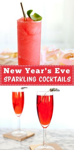 Easy, Fizzy & Festive New Year's Eve Sparkling Cocktails