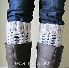 Made From Scratch: Boot cuff's, new pattern! Crochet Leg Warmers, Crochet Boot Cuffs, Crochet Boots, Crochet Trim, Crochet Clothes, Knit Crochet, Crochet Crafts, Crochet Projects, Yarn Crafts