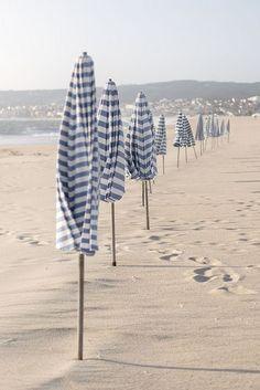 Blue and white beach life design